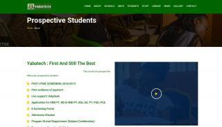 Yabatech Prospective Student Portal