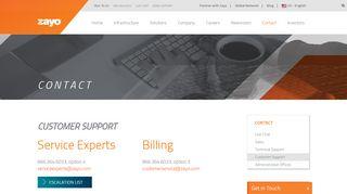 Zayo Support Portal