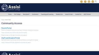 Assisi Catholic College Portal