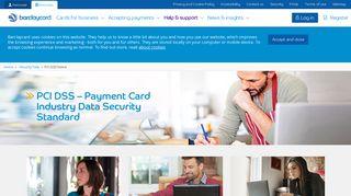Barclaycard Data Security Portal