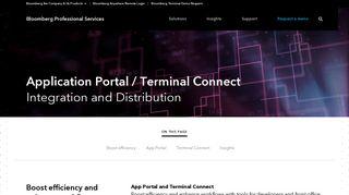Bloomberg App Portal