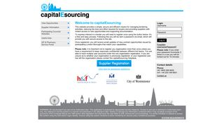 Capital E Sourcing Portal