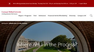 Carnegie Mellon Admissions Portal
