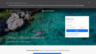 Chase Ultimate Rewards Travel Portal