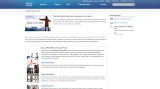 Cisco Partner Talent Portal