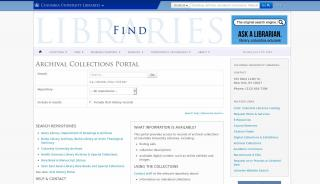 Columbia Archives Portal