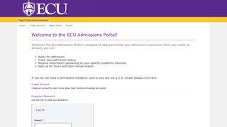 Ecu Portal Admissions