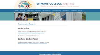 Emmaus College Jimboomba Parent Portal