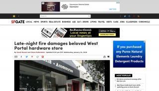 Fire In West Portal