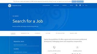 Ge Career Portal