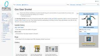 Good Gear Snorkel Portal 2