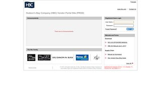 Hbc Vendor Portal