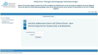 His Portal Fh Frankfurt