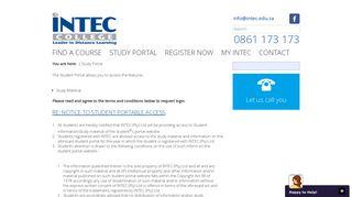 Intec Student Portal