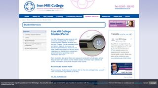 Iron Mill College Student Portal