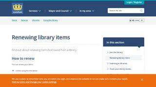 Lewisham Library Portal