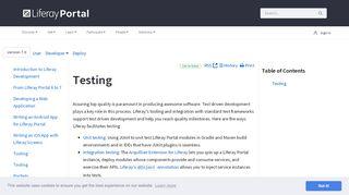 Liferay Portal Testing