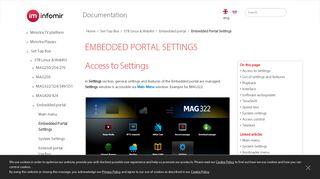 Mag 254 Embedded Portal