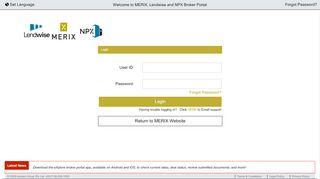 Merix Broker Portal
