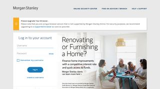 Morgan Stanley Client Portal