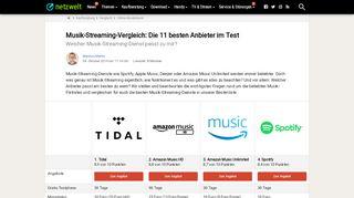 Musik Streaming Portale Vergleich