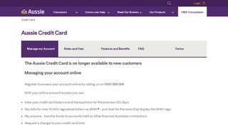 My Aussie Credit Card Portal
