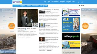Nachrichten Aus Griechenland Portal