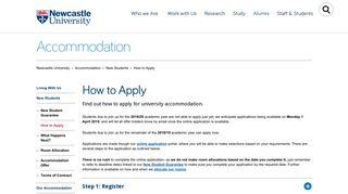 Newcastle Accommodation Portal