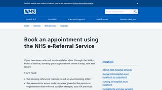 Nhs Appointment Portal