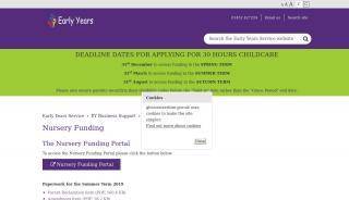 Nursery Funding Portal Gloucestershire