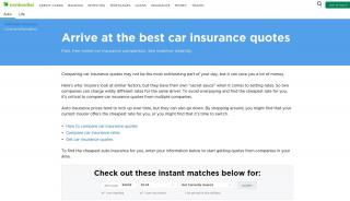 Online Insurance Comparison Portals