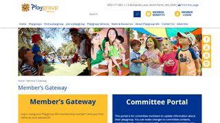 Playgroup Wa Membership Portal