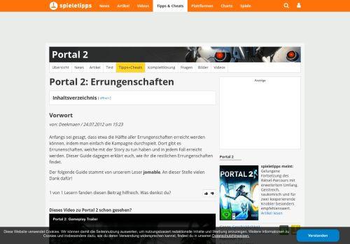 Portal 2 Erfolg Massenerhaltung