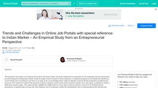 Research Paper On Online Job Portal