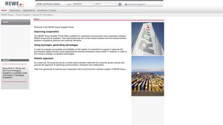 Rewe Group Support Supplier Portal