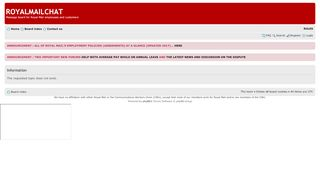 Royal Mail People System Portal