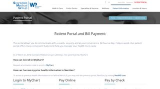 Scarsdale Medical Group Patient Portal
