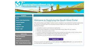 South West Tender Portal