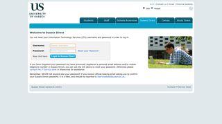 Sussex University Portal