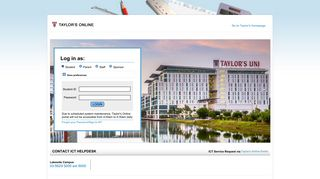 Taylor's University Portal