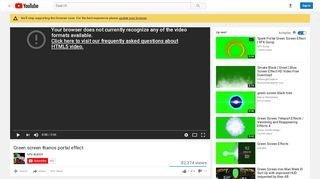 Thanos Portal Green Screen