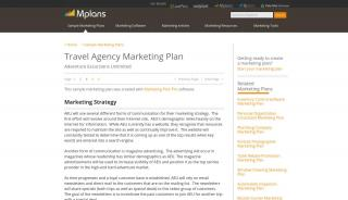 Travel Portal Marketing Strategy