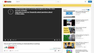 Tv Portal 1.1 18 Not Working