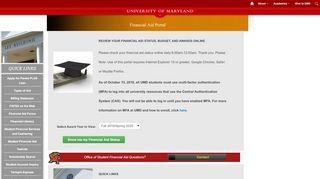 University Of Maryland Portal
