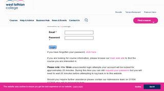 West Lothian College Portal