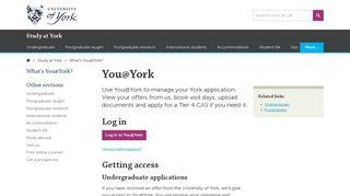 York University Portal