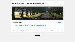 Alamo Broadband Customer Portal