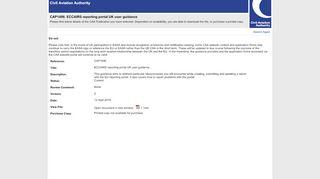 Eccairs Reporting Portal