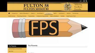 Fulton Public Schools Parent Portal