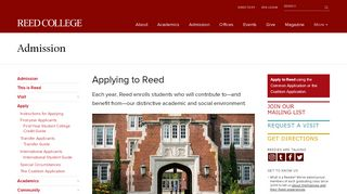 Reed Admissions Portal
